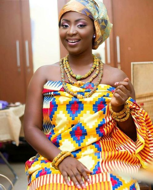 Beautiful Ghanaian Kente Bride
