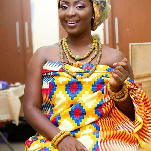 Beautiful Ghanaian Kente Bride