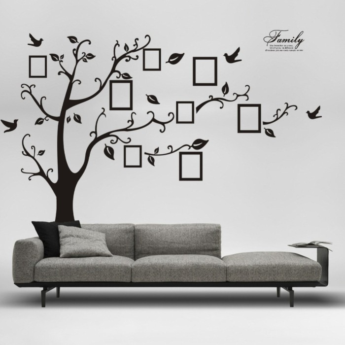 1set-2pcs180X250cm-black-Photo-frame-family-tree-sweet-memory-Wall-Stickers-Home-living-room-bedroom-Wedding