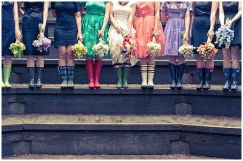 rain bridesmaids