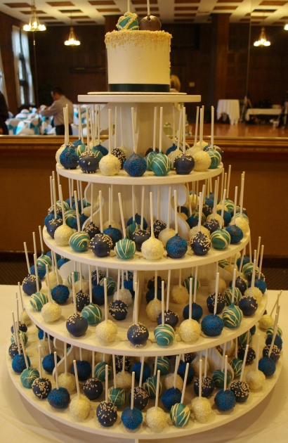 Peacock Wedding Cake Pop